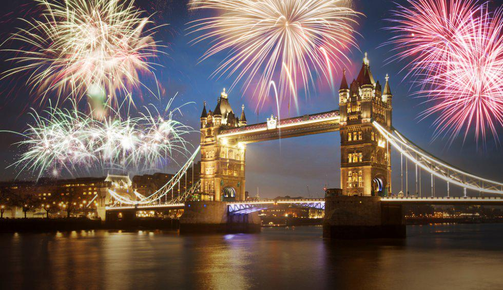 nouvel an feux artifice Londres 2018-2019